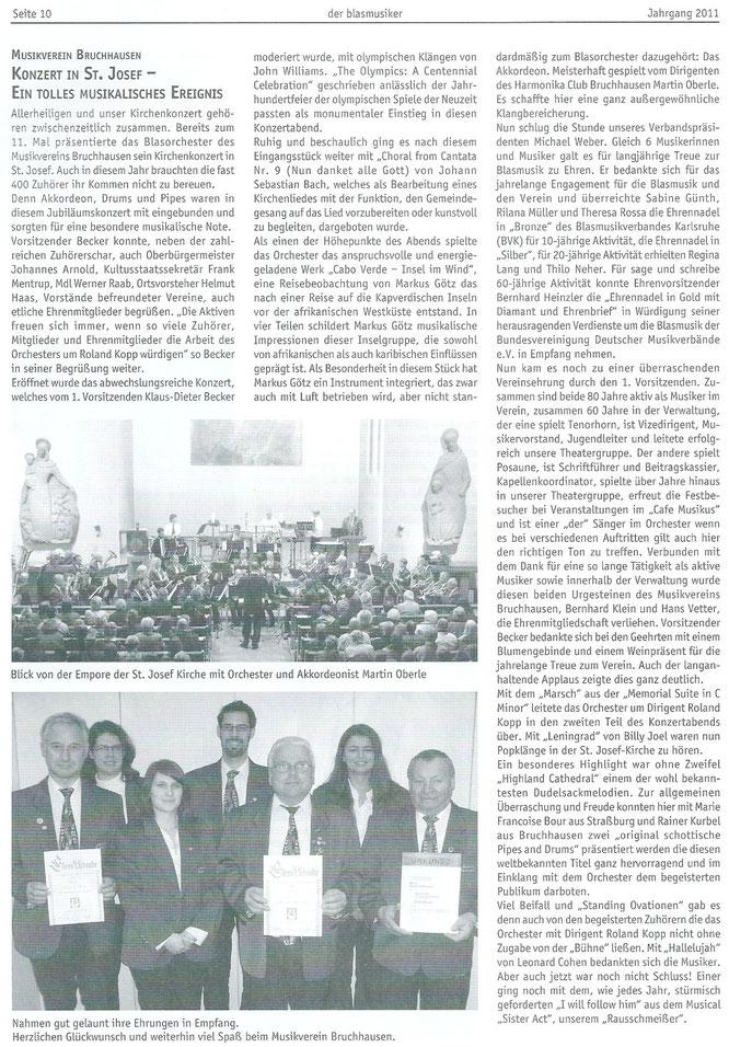 """""""der blasmusker"""" Bericht 15.12.2011"""