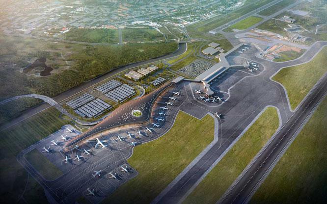 Abajo a la izquierda: Expansión del Aeropuerto Internacional de Tocumen (en construcción)