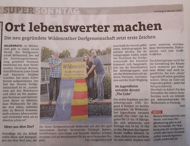 Supersonntag Dorfgemeinschaft Wildenrath Presse