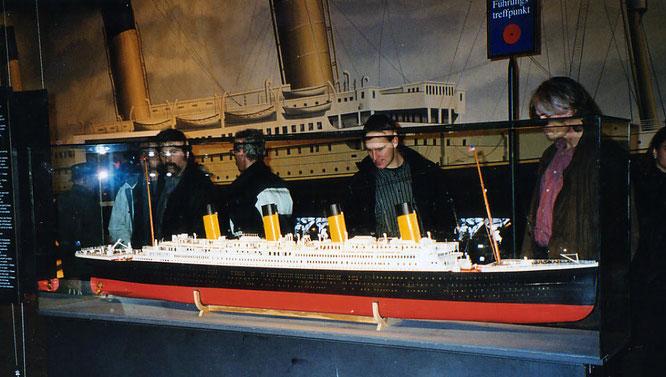 Mein erstes Titanic-Modell in der Münchener Ausstellung.