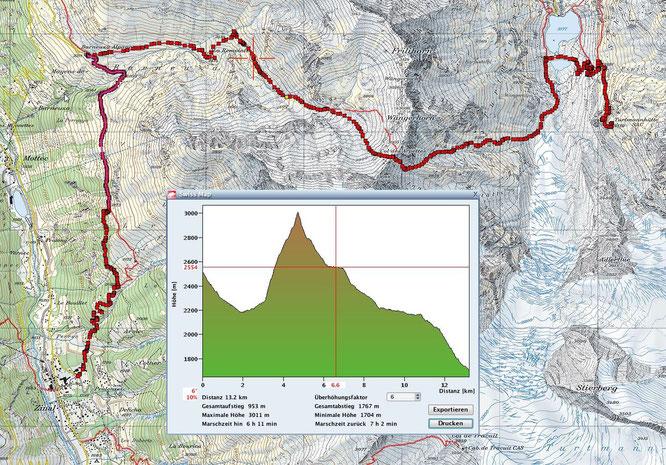 Turtmannhütte über den Col des Arbettes nach Zinal