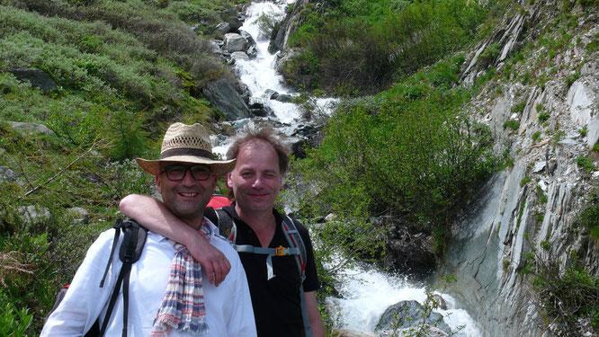 Jörg und Remo am Dornbach