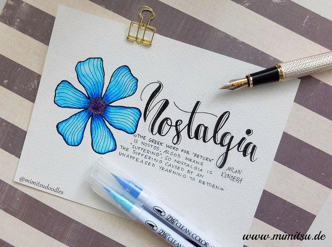 Nostalgie, Bedeutung, Handlettering, Lettering, Blume, Einführung