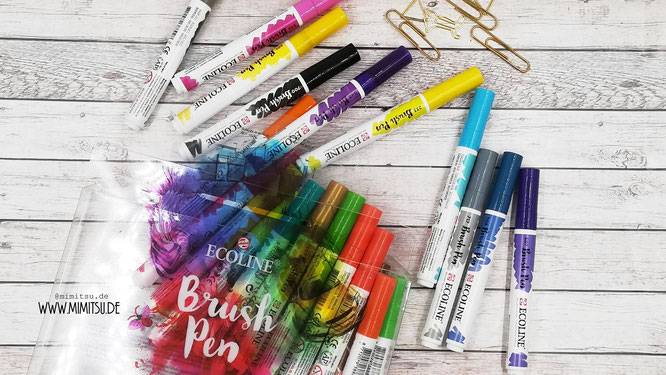 Ecoline Brush Pens Bullet Journal