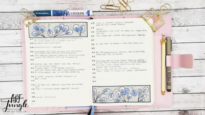 Bullet Journal Januar Mood tracker Tagebuch