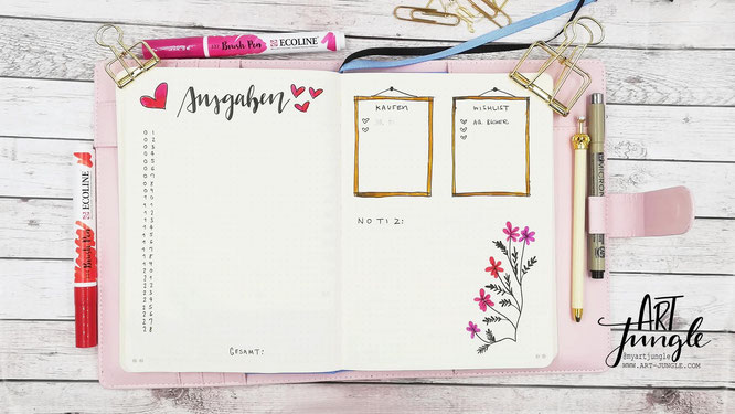Bullet Journal Februar Mood tracker Tagebuch