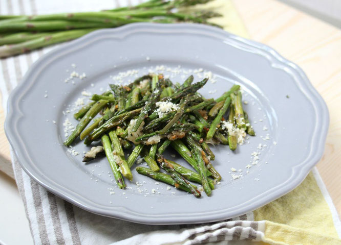 This easy roasted parmesan asparagus will have the whole family excited about eating their veggies!