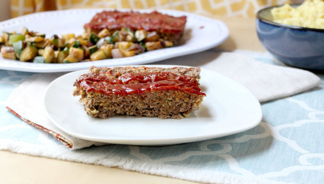 A simple, easy meatloaf recipe perfect to have on hand for a special meal even on a busy weeknight! - www.homemadenutrition.com