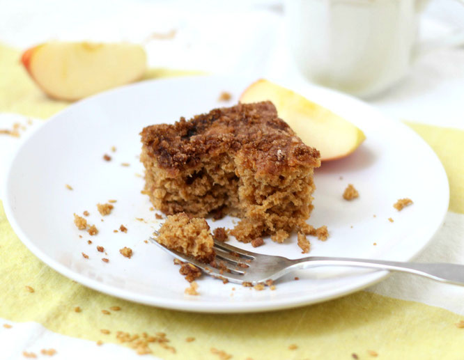 This spiced apple-cardamom coffee cake is nothing short of delectable.  It's the perfect breakfast to welcome the weekend.