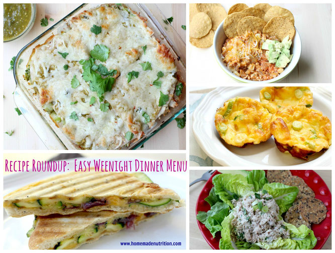 This healthy, cheap, and easy weeknight dinner menu plus grocery list is totally free!! - www.homemadenutrition.com