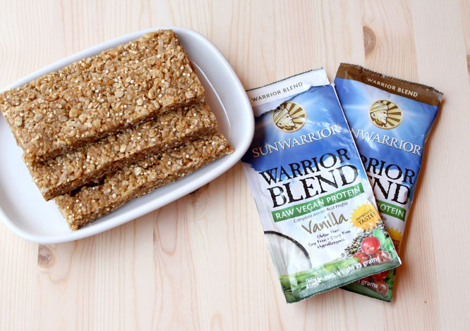 Chewy Vegan Coconut Granola Bars with sunwarrior vanilla protein - these are so good!  http://bit.ly/1H5Ugst