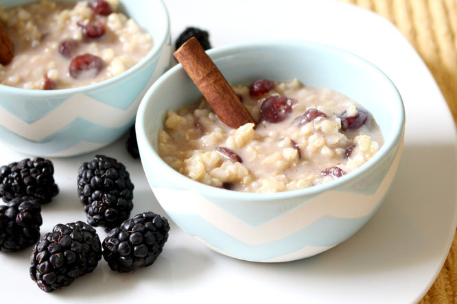 overnight rice pudding for two - perfect vegan and gluten free breakfast option! #ad