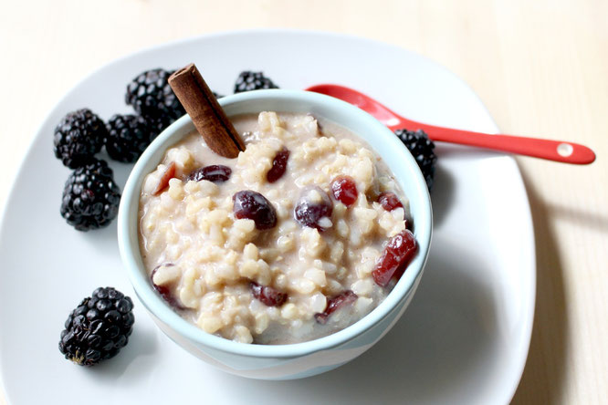 overnight breakfast rice pudding - vegan and gluten free #ad