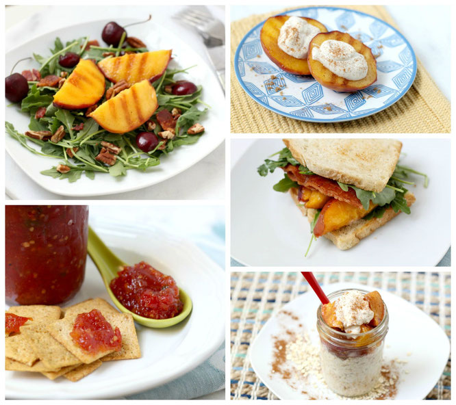 peaches all around!  5 different ways to use this sweet summer fruit!