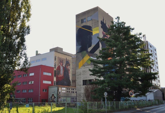 Graffiti-Welt in der Grazer Puchstraße, Österreich. © Reinhard A. Sudy