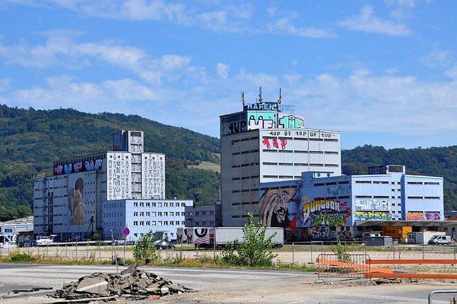 Ein erster Blick auf die Graffiti-Welt im Linzer Hafengelände. © 2018 Reinhard A. Sudy