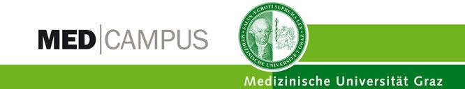 Logo MED CAMPUS. © 2016 Medizinische Universität Graz