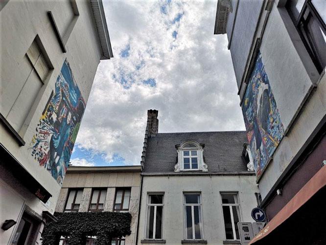 Am Ende der Pelgrimstraat, unmittelbar vor ihrer Einmündung in die  Reynderstraat, Antwerpen. © 2019 Reinhard A. Sudy