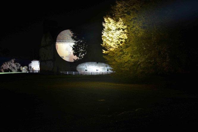 Siegrun Appelt: Lichtprojekt Graz-Reininghaus. © Siegrun Appelt 2015