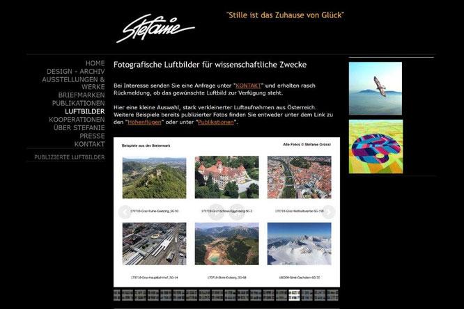 Screenshot am 26.2.2021 von www.stefanie-kunst.at/luftbilder/
