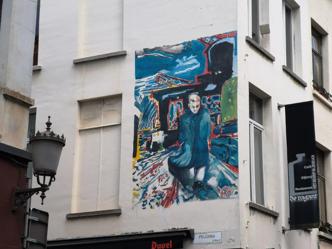 Hoch oben in der Pelgrim Straat in Antwerpen, Belgien. © Reinhard A. Sudy