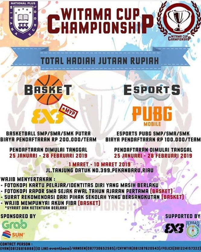 Event Terbaru Witama School Witama Cup Championship 2019