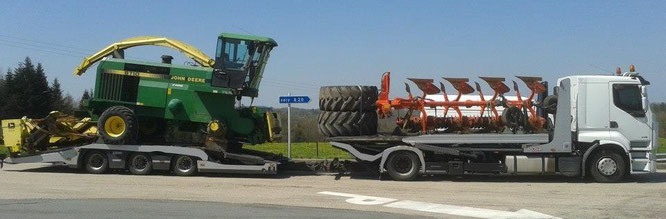 CTV transport agricole moissoneuse