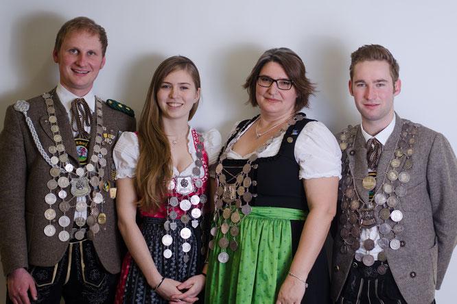 Andreas Weber (LP), Theresa Heuwieser (Jugend), Sylvia Haberstock-Kiesenbauer (Damen), Tobias Huber (LG)