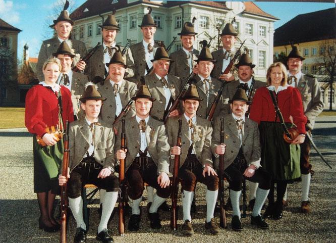 Die Traditionsabteilung zum 10-jährigen Jubiläum 2002