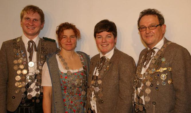 Andreas Weber (Luftgewehr), Iris Detter (Damen), Julian Schwägerl (Jugend), Manfred Weber (Luftpistole)