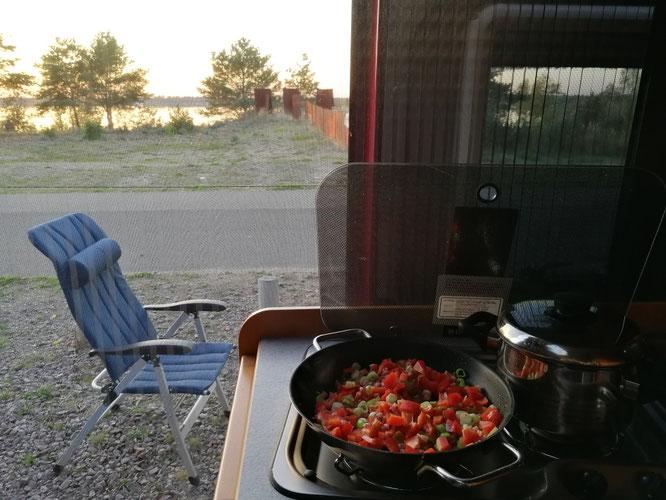Kochen mit Ausblick