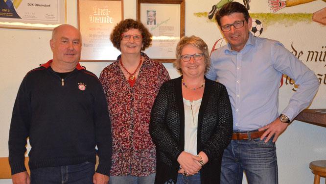 Die neue Führungs-Quadriga (von links): Erwin Schwab (Veranstaltungen), Maria Straub (Finanzen), Inge Deffner (Öffentlichkeitsarbeit) und Hugo Schwab (Sport).