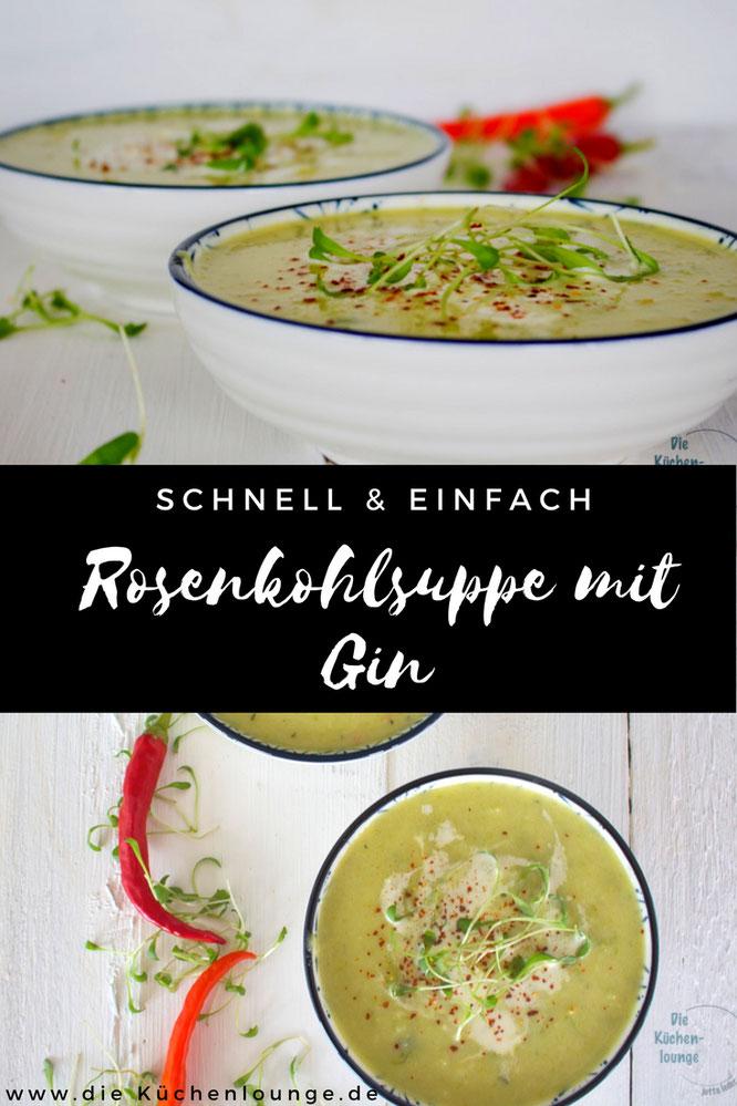schnell & einfach, Rosenkohlsuppe mit Gin