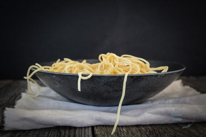 Spaghetti mit Kaki & Spinat