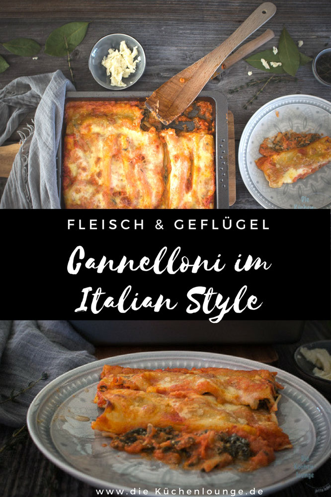 Cannelloni im Italian Style