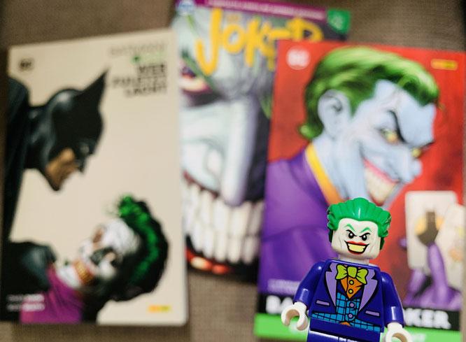 Von links nach rechts: Wer zuletzt lacht / Joker Special / Der Mann, der lacht