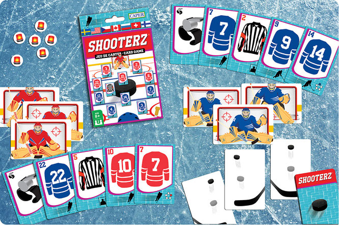 Shooterz Hockey Card Game, game box and content
