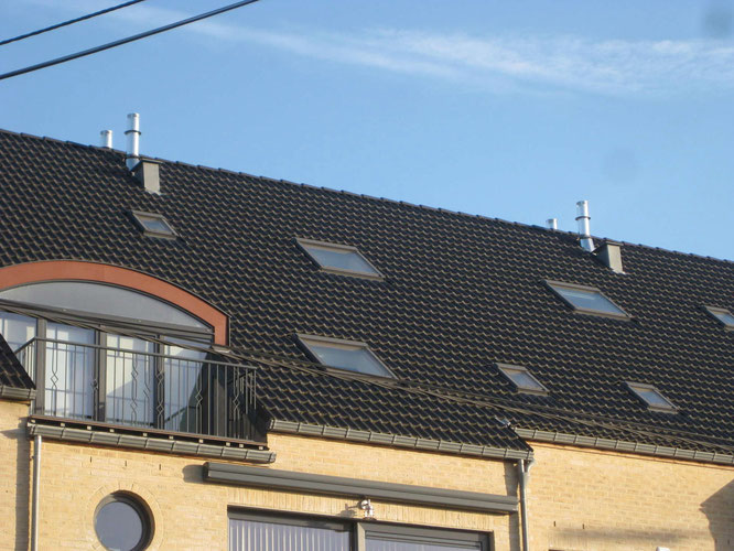 Ventilation par extraction, type A, sur un immeuble à appartement