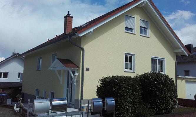 Fassade nachher, ein moderner & farblich abgestimmter Anstrich