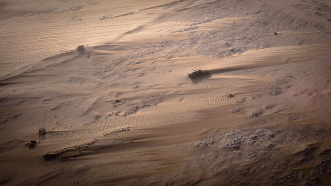 Bird`s eye view scenic flight - diamand ghost town, Namib Desert Namibia