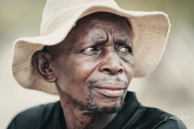 man epupa falls village kaokoveld namibia