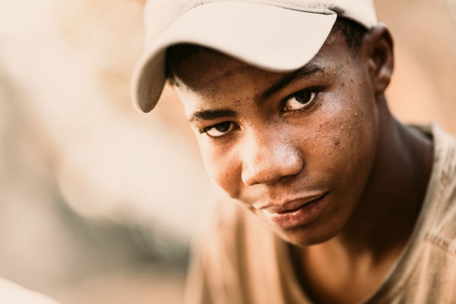 faces of namibia portrait miner boy