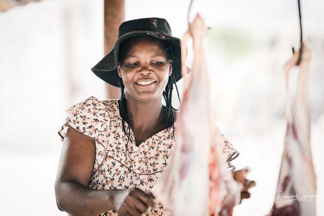 Himba Epupa Falls village Kaokoveld Namibia