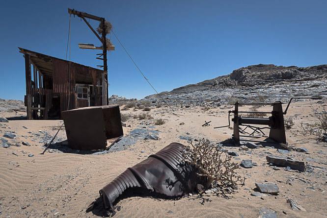 Outpost between the towns Grillenthal and Pomona, diamant restricted area Namibia