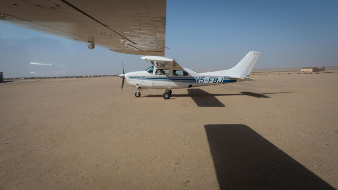 Our cessna for the scenic flight in Swakobmund - Namib Desert Namibia
