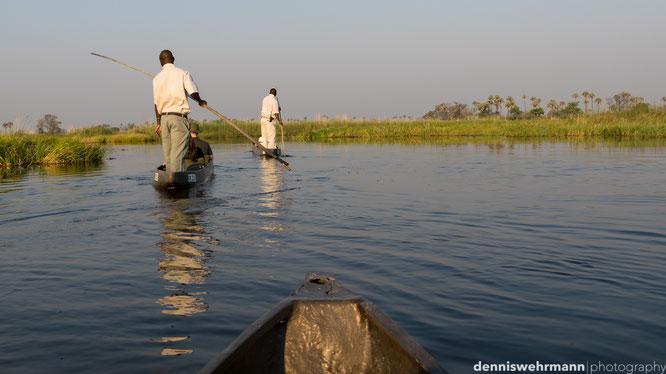 mokoro  gunns camp okavango delta botswana