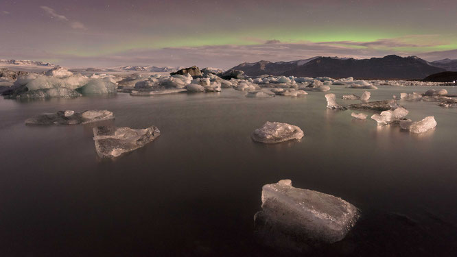 Aurora borealis | Jökulsárlón | Iceland 2016