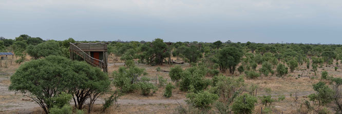 sky beds hyena pan camp - khwai konzession botswana