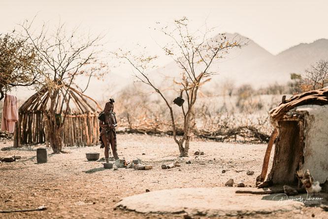 himba dorf epupa kaokoveld namibia