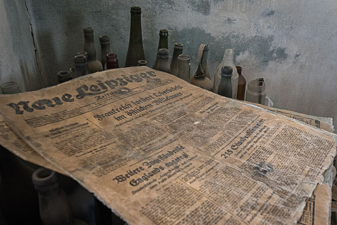 "Newspaper ""Neue Leipziger Zeitung""  from 1939 in Pomona, diamant restricted area Namibia"